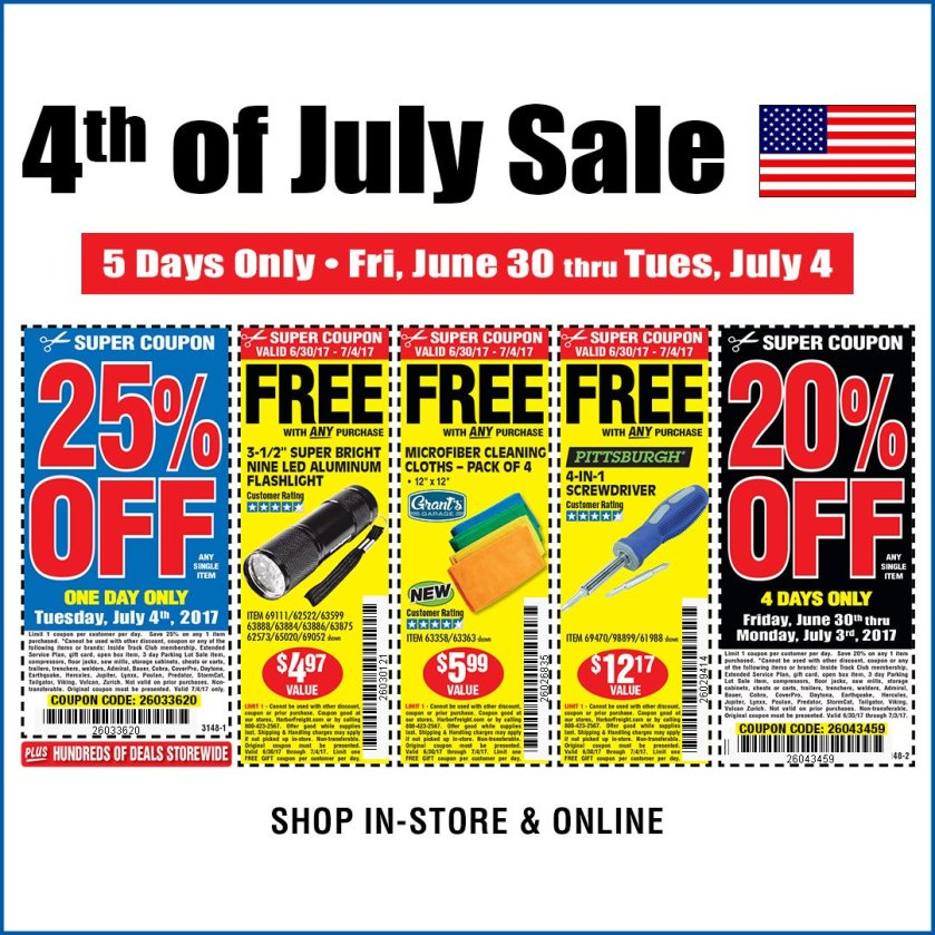 harbor freight 4 july