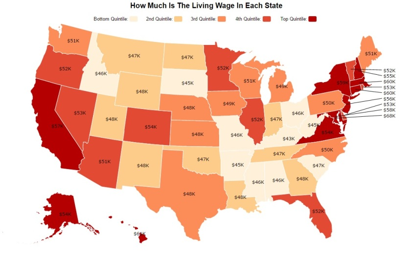 living-wage-by-state-map